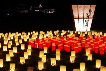 光の回廊板葺の宮跡橘寺遠景