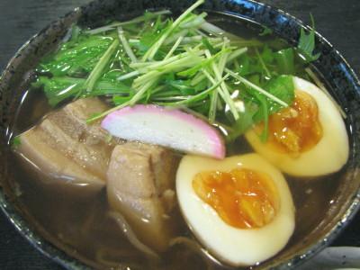 豚の角煮蕎麦1