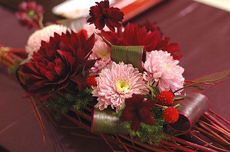 ボルドーの花