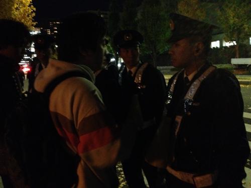 20131126官邸前警官妨害行動