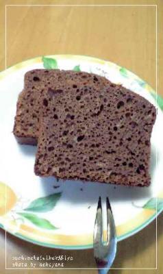 ビターなチョコパウンドケーキ