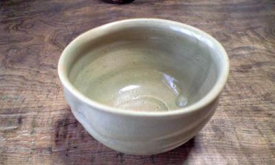 青備前抹茶茶碗