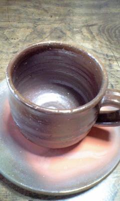 備前焼コーヒーカップ&ソーサー