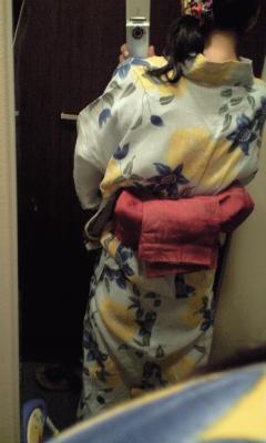 本日の浴衣。