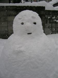 大晦日雪だるま