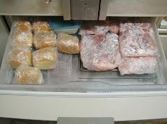 冷凍庫上段前