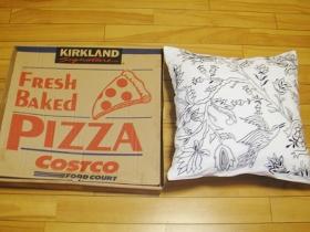 ピザとクッション