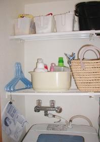 洗濯機上洗剤入れ 前