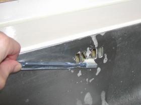 シンク横排水官入口掃除