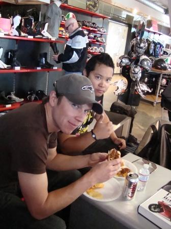 MOTO GP   Lunch Justin