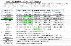 '12 愛知長久手遠征スケジュール