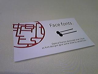 Face Fonts・17