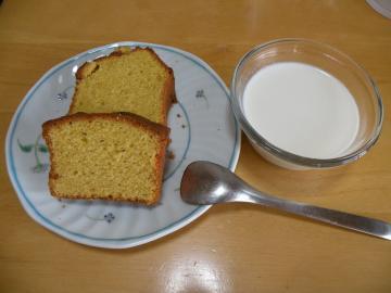 パンプキンパウンドケーキとパンナコッタ100515