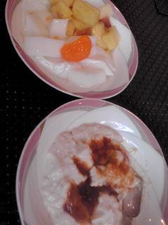 サラダバーのデザート