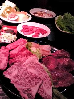 パイン牛肉皿