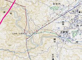 石岡発電所map