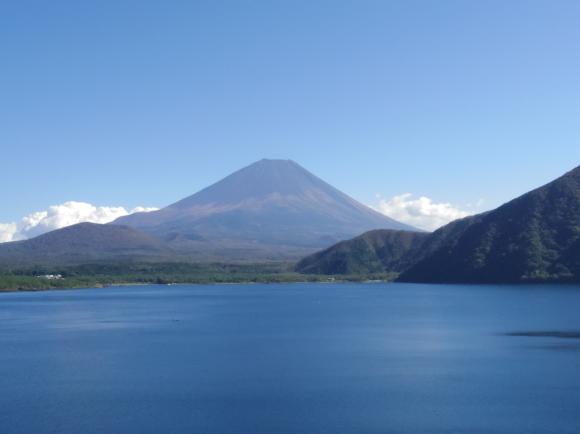 本栖湖の富士山