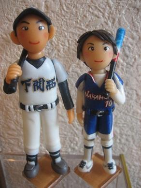 野球&ソフト人形