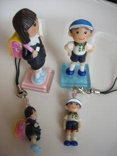 ランドセル&体操服人形人形&ストラップ