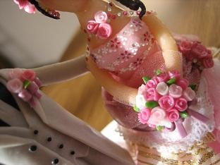 ウェディング人形ピンク6