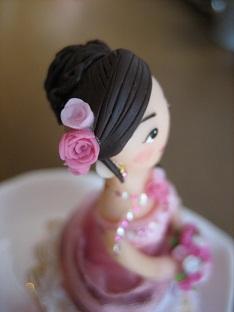 ウェディング人形ピンク7