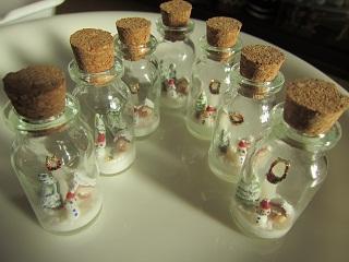 クリスマスミニボトル中
