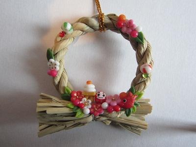 ミニしめ飾り梅花