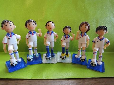 サッカー人形6人