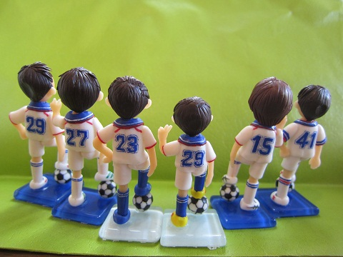 サッカー人形6人2