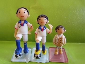 サッカー3きょうだい