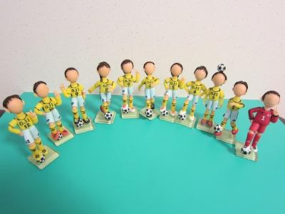 サッカーチーム製作中。