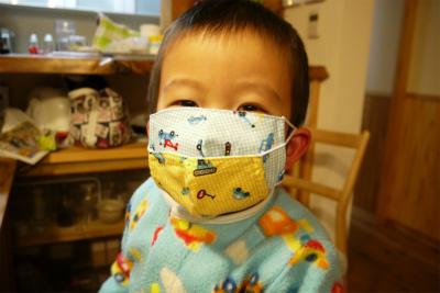マスク重ねづけ