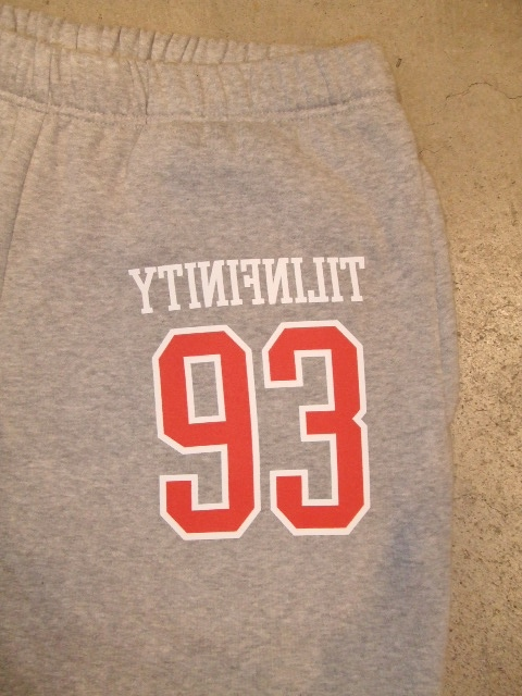 MDY 93TILINFINITY SWEAT PANTS GRAY FT