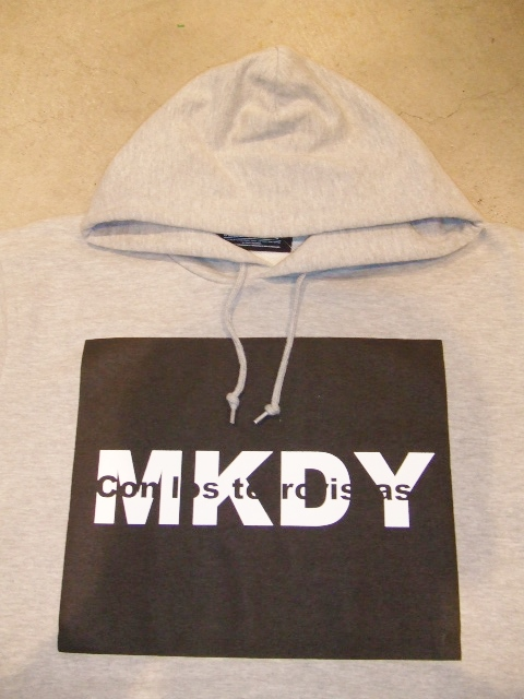 MDY MKDY SWEAT HOODIE GRAY FT