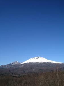 mt. asama on a winter day
