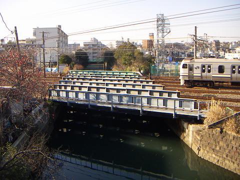 石崎川の相鉄・JRの鉄橋 B