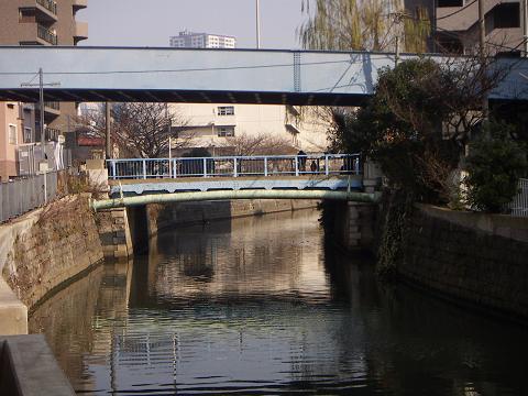 石崎川の扇田橋 A