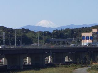 亀の甲橋から見た富士山