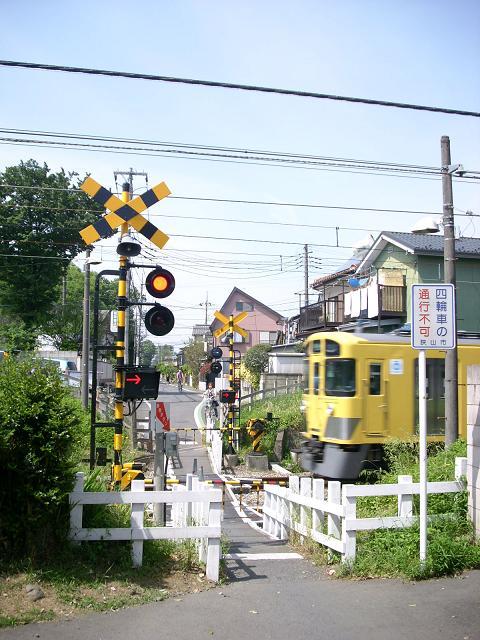 西武新宿線の「新9」踏切A