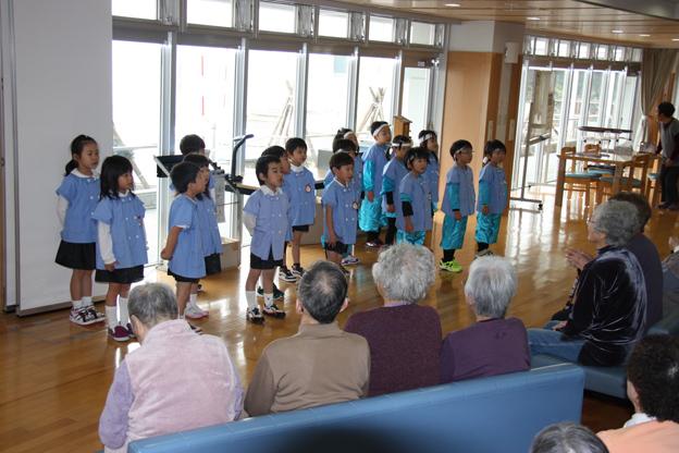20131127幼稚園児が和風園を訪問