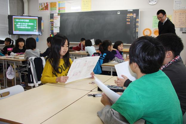 20131127沼田小学校で利雪学習