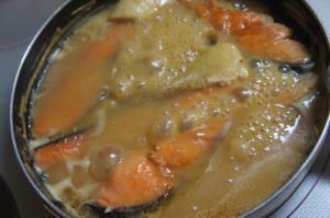 鮭の味噌煮