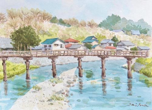 画家松井大門先生の絵