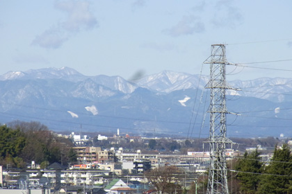 冠雪した山