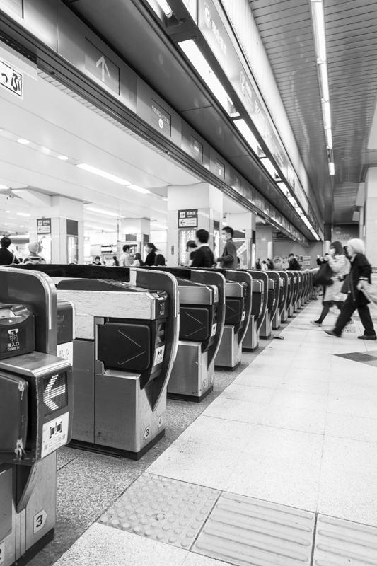 東急東横線、旧渋谷駅改札