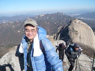 11月21日、ソウルのぶっかん山【北漢山)に登った。