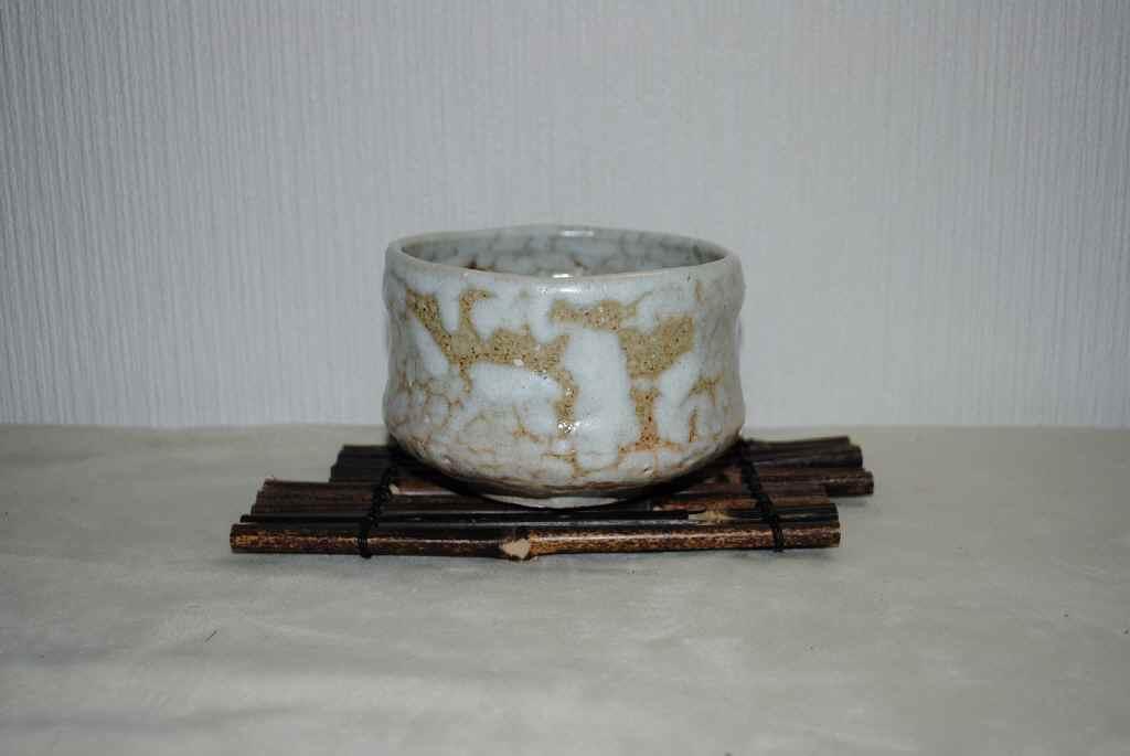 藁灰釉萩茶碗