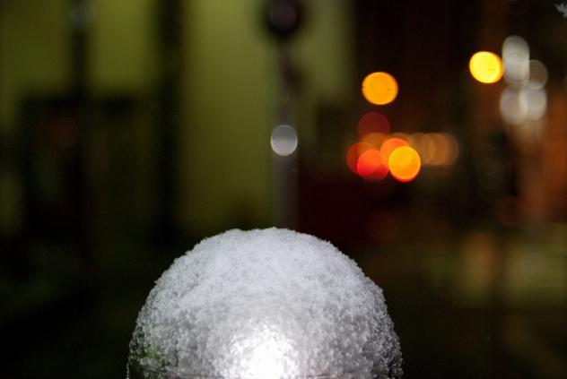 御徒町の雪