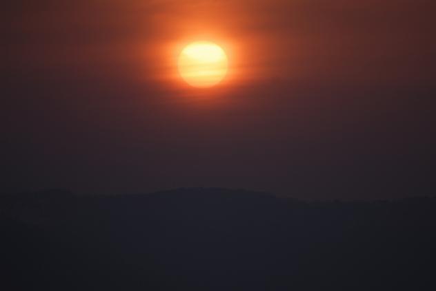 十和田湖の夕方