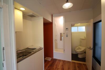 201号室キッチン・バス・トイレ